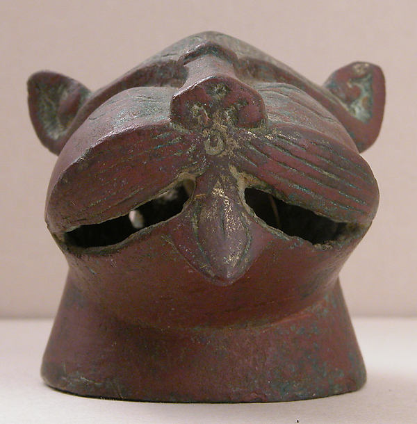Incense burner, in the shape of a lion's head