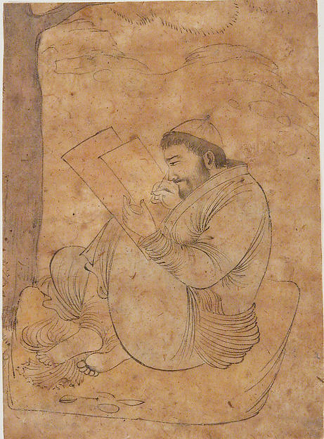 Seated Man Painting or Writing