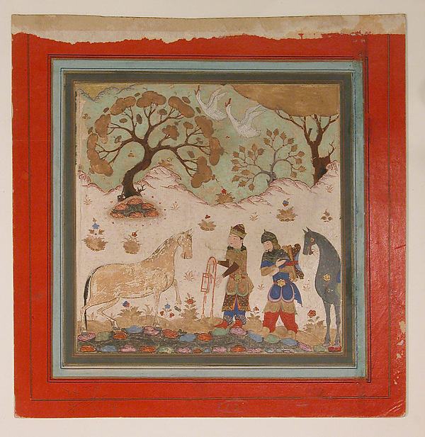 """Rustam Captures Rakhsh"", Folio from a Shahnama (Book of Kings)"