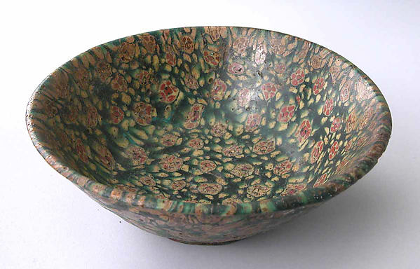 Glass Bowl in Millefiori Technique
