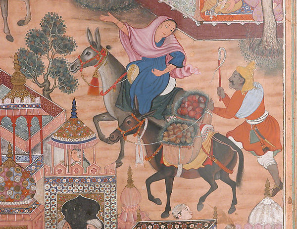 """The Spy Zambur Brings Mahiya to the City of Tawariq"", Folio from a Hamzanama (Book of Hamza)"