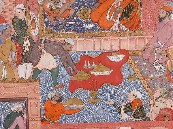 """Misbah the Grocer Brings the Spy Parran to his House"", Folio from a Hamzanama (The Adventures of Hamza)"