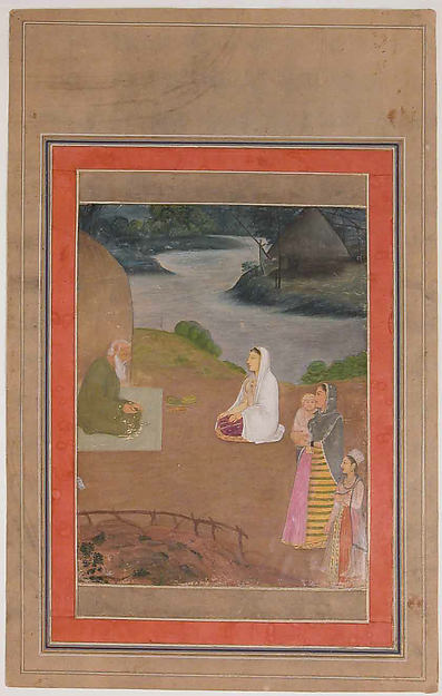 """Women Visiting a Hermit"", Folio from the Davis Album"