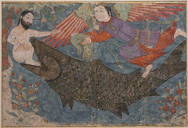 """Jonah and the Whale"", Folio from a Jami al-Tavarikh (Compendium of Chronicles)"