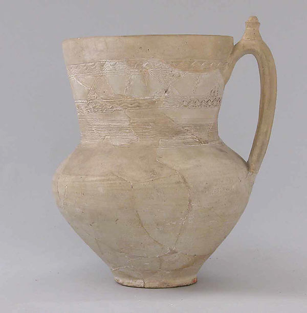 Three Unglazed Pitchers and a Lid
