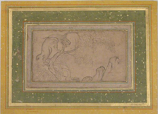 Lion (Chi'lin) in a Landscape