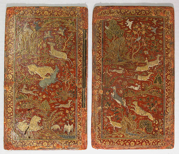 Bookbinding with Animals in a Landscape