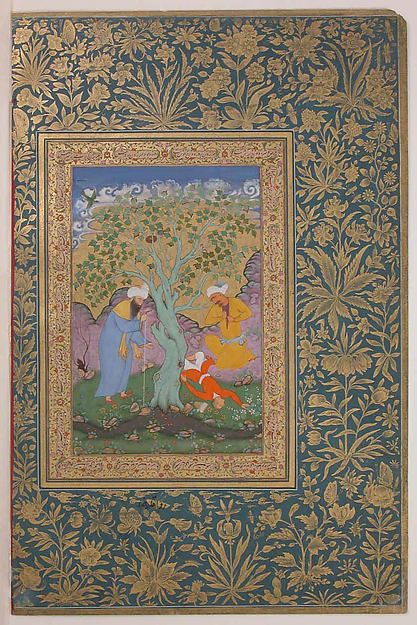 """A Youth Fallen From a Tree"", Folio from the Shah Jahan Album"