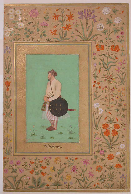 """Portrait of Khan Dauran Bahadur Nusrat Jang"", Folio from the Shah Jahan Album"