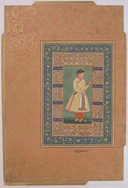 """Portrait of Zamana Beg, Mahabat Khan"", Folio from the Shah Jahan Album"