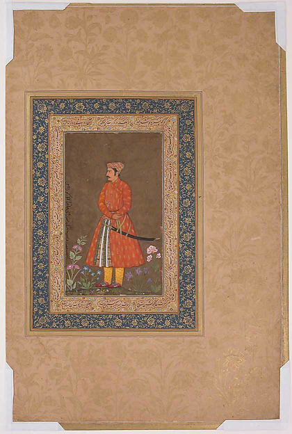 """Portrait of Rup Singh"", Folio from the Shah Jahan Album"