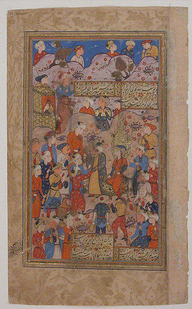 """Zusuf is Purchased in Egypt by Zulaikha"", Folio from a Yusuf and Zulaikha of Jami"