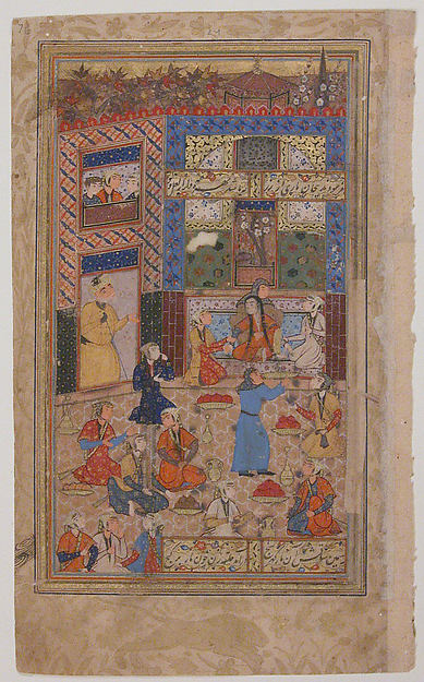 """Zulaikha after her Second Dream of Yusuf"", Folio from a Yusuf and Zulaikha of Jami"