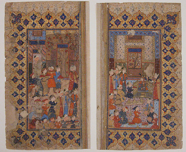 """""""Enthronement of a Young Prince (Shapur II?)"""", Folio from a Yusuf and Zulaikha of Jami"""