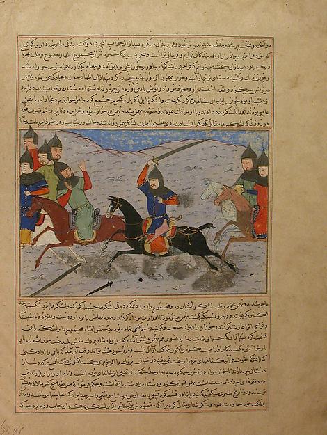 """Bahman Taking Revenge on the Sistanians""  Folio from the Majma al-Tavarikh (Compendium of Histories) of Hafiz-i Abru"