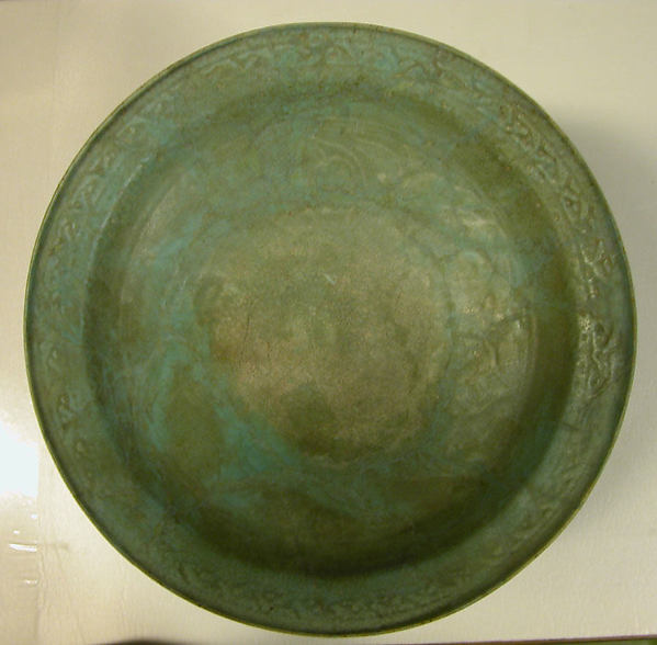 Bowl on a Base of Three Molded Lions