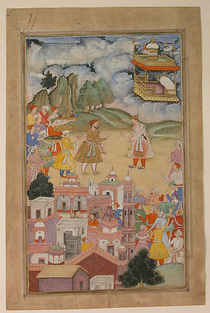 """King Sal Visits Kala Yavana"", Folio from a Harivamsa (Legend of Hari (Krishna))"