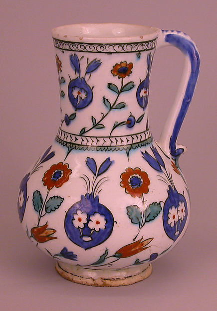 Ewer with Floral Design