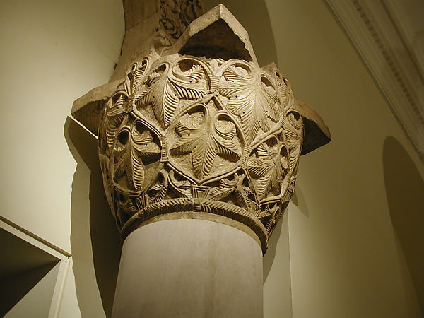 Capital with a Pattern of Leaves and Vines