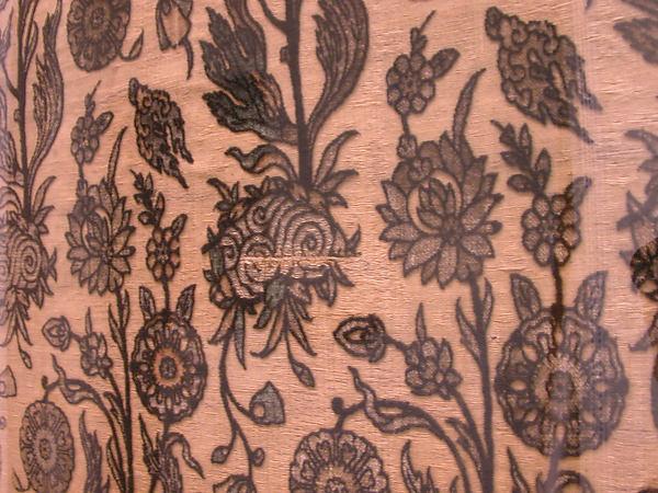 Velvet Panel with Flowering Plants