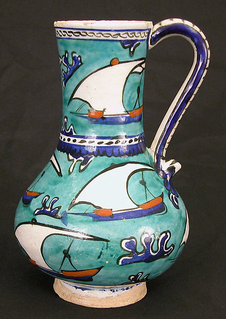Ewer with Sailing-ship Design