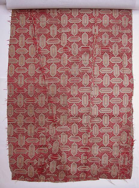 Textile with Cartouche Design