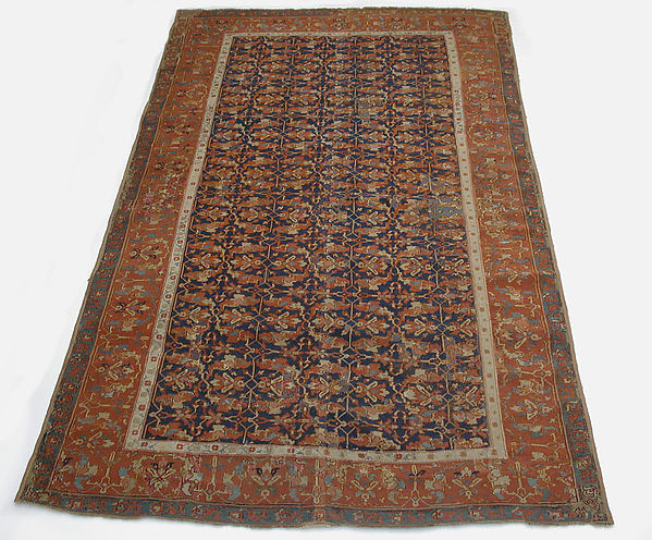 Lotus-Patterned Ushak Carpet