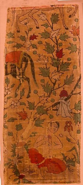 Velvet Fragment with Design from Nizami's Khusrau and Shirin