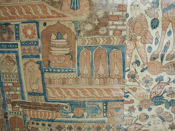 Kalamkari Hanging with Figures in an Architectural Setting