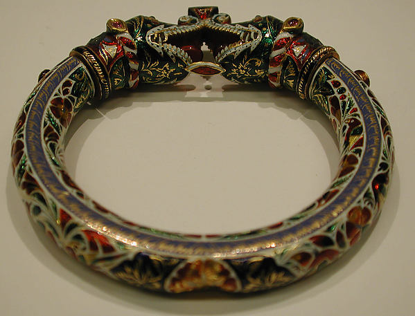 Bracelet with Makara Head Terminals