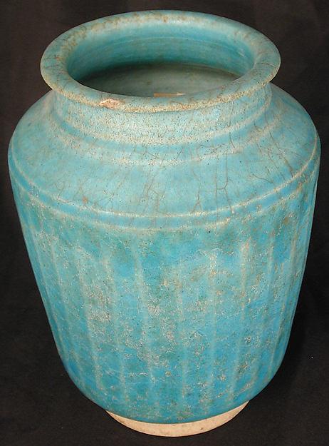 Ribbed Jar