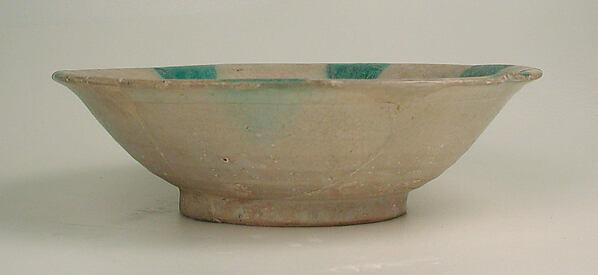 Imitation Green-Splashed Samarra Ware
