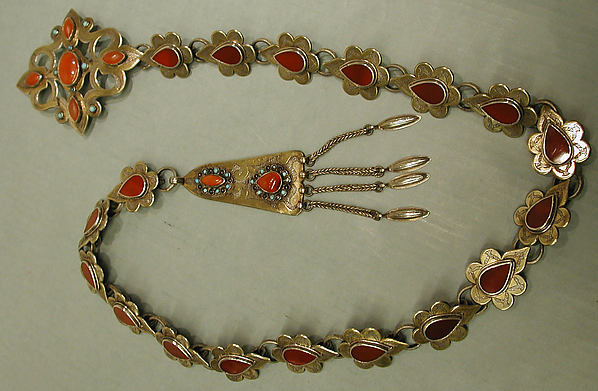Ornamental Elements Assembled as a Belt
