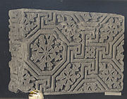 Corner Block from a Frieze with a Meander Pattern of Lines and Rosettes