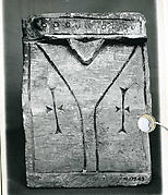 Console with Incised Lines and Crosses