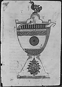 """Design for a Cup to Serve Wine at Drinking Parties"", Folio from a Book of the Knowledge of Ingenious Mechanical Devices by al-Jazari"