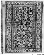 Kufesque-Border Lattice Shirvan Rug