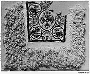 Fragment of a Cover or Blanket with Ornamental Square Featuring Flowers and Animals