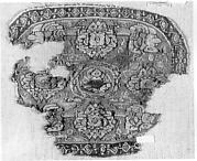 Tunic Ornament Showing Christ and the Virgin Flanked by Angels?