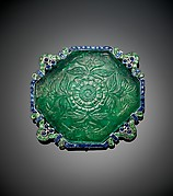 Brooch with Carved Emeralds and Saphires by Cartier