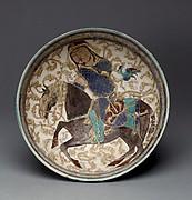 Bowl with Prince on Horseback