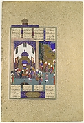 """Zahhak is Told His Fate"", Folio from the Shahnama (Book of Kings) of Shah Tahmasp"