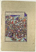 """Kai Khusrau Defeats the Army of Makran"", Folio 376v from the Shahnama (Book of Kings) of Shah Tahmasp"