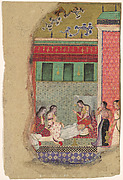 """""""The Death of King Dasharatha, the Father of Rama"""", Folio from a Ramayana"""