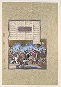 """Sufarai's Victory Over the Haital"", Folio from the Shahnama (Book of Kings) of Shah Tahmasp"
