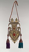 Cordiform Pendant with Tassles