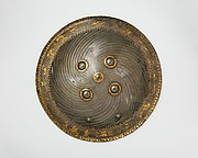 Shield with Hunting and Landscape Vignettes