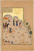 """Bahram Gur's Skill with the Bow"", Folio from a Haft Paikar (Seven Portraits) of the Khamsa (Quintet) of Nizami"