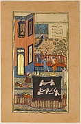 """The Eavesdropper"", Folio 47r from a Haft Paikar (Seven Portraits) of the Khamsa (Quintet) of Nizami"