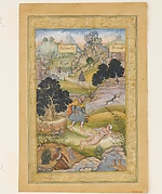 &quot;A Muslim Pilgrim Learns a Lesson in Piety from a Brahman&quot;, Folio from a Khamsa (Quintet) of Amir Khusrau Dihlavi